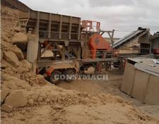 Constmach 200-250 tph CAPACITY MOBILE JAW AND IMPACT CRUSHER, DOUBLE CHASS