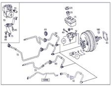Mercedes-Benz brake master cylinder Bomba Frenolina for MERCEDES-BENZ Clase S Berlina (BM 220)(1998->) 3.2 320 CDI (220.026) [3,2 Ltr. - 145 kW CDI CAT] automobile